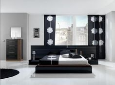 Bedroom Designs With Black Furniture detalles de color rojo | scandinavian