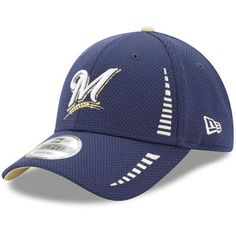 factory price 6f2d8 6f5c3 Milwaukee Brewers New Era Speed 9FORTY Adjustable Hat - Navy