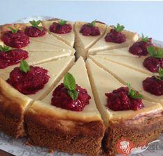 Klasický cheesecake   NajRecept.sk Cheesecake Cupcakes, Cheesecake Brownies, Cheesecake Recipes, Czech Desserts, Cake Recept, Dessert Presentation, Czech Recipes, 20 Min, Sweet Cakes