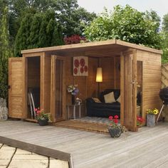 if possible incorporate a small storage space into the garden room for mower, bikes etc ... also single door to gable end nice idea