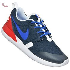 Nike Rosherun QS (GS) Baskets de running 703935 Sneakers Chaussures - - navy heather game royal university red 400,