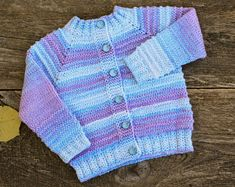 READY TO SHIP size 12 - 18 months Knit baby cardigan striped sweater wool baby girl cardigan sweater rainbow baby sweater baby knit jumper Cardigan Gris, Baby Boy Cardigan, Baby Girl Cardigans, Knitted Baby Cardigan, Knit Baby Sweaters, Knitted Coat, Warm Sweaters, Girls Sweaters, Cotton Sweater
