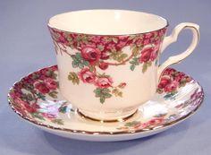 Royal Stafford Olde English Garden Vintage Bone China Tea Cup and Saucer