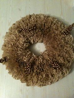 Coffee Filter Wreath with Berries