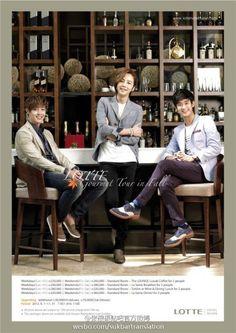 [PICS] Kim Hyun Joong, Kim Soo Hyun, & Jang Geun Suk for Lotte ~ Only Kim Hyun Joong