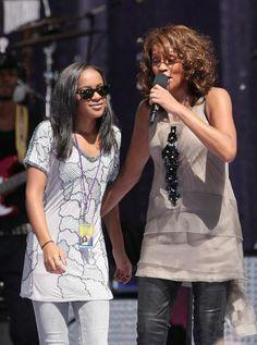Whitney & daughter, Bobbi Kristina
