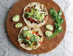 Black Bean Fajitas + Guacamole by Julie West | The Simple Veganista, via Flickr