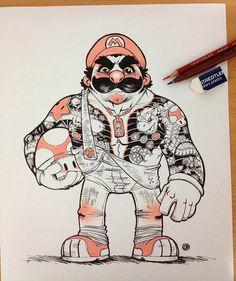 Mario, Luigi, Bowser, and Princess Peach as Yakuza gang members - Lost At E Minor: For creative people
