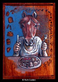 Eats like a Horse Idioms, Esl, Horses, Gallery, Artist, Artwork, Animals, Painting, Work Of Art