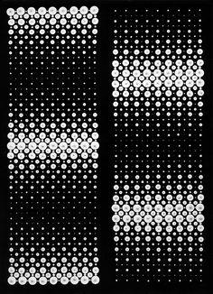 Almir Mavignier, convexo-cóncava II (Konvex-Konkav II) (1962) Óleo sobre lienzo, 141 x 100 cm  Colección del artista  Foto © Almir Mavignier: Almir Mavignier