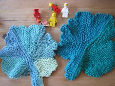 Different, interesting wash or dish cloth.  Free pattern. Ravelry: Cotton Leaf Rag pattern by Ann Buechner