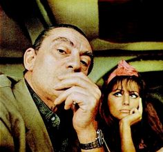 Luchino Visconti & Claudia Cardinale in 1963, during filming of 'The Leopard'