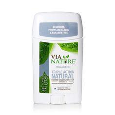 Via Nature Deodorant Stick Fragrance Free
