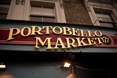 Portobello Road, London.