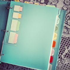 Household binder project.