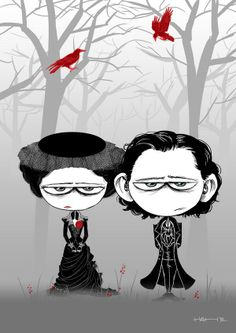 Crimson Peak couple by Hash
