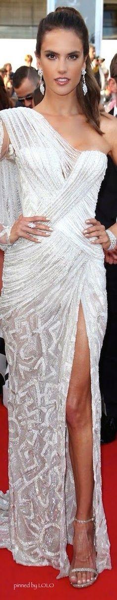 Alessandra Ambrosio in Roberto Cavalli Cannes 2014
