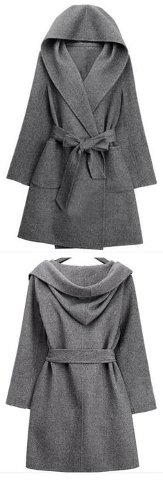 We'd snatch this coat up in a New York minute if we were you. New York Minute Robe Coat features robe belt and oversized hood. More amazing pieces at CUPSHE.COM !