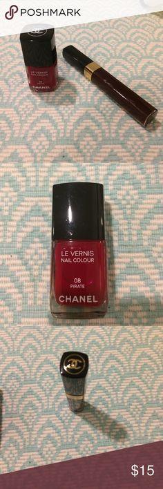 Chanel nail polish and lip gloss Chanel nail polish 08 Pirate hue and Chanel lip gloss number 176.  Never before used! CHANEL Makeup