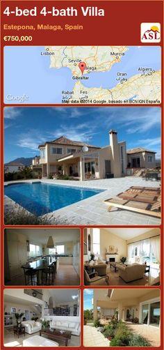 4-bed 4-bath Villa in Estepona, Malaga, Spain ►€750,000 #PropertyForSaleInSpain