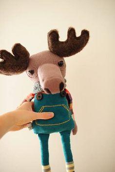 Boolah Baguette - Custom Dolls - Moose Toy - Antlers & Overalls