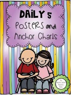 """I hope you enjoy this 40 page Daily 5 freebie.  You will find illustrated posters and anchor charts to hang up in your classroom to remind your students about the expectations.  """"The Daily 5 and CAFE are trademark and copy written content of Educational Design, LLC dba The 2 Sisters."""