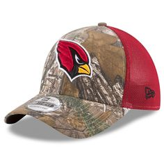 Arizona Cardinals New Era Trucker 39THIRTY Flex Hat - Realtree Camo Cardinal c2df05e85