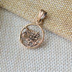 Dragon Pendants, Bronze Dragon Pendant, Chinese Dragon, Round Dragon Medallion, Amulet, Serpent, Mythical Bronze Jewelry, One,AK15-080