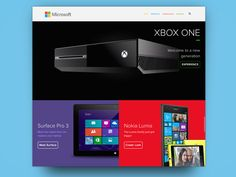 Mockup concept for Microsoft homepage, awesome stuff.