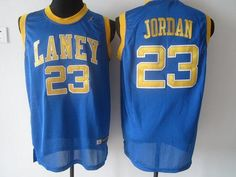 e149022f79d914 Bulls  23 Michael Jordan Blue Laney High School Classic Stitched NBA Jersey  Cycling Clothing
