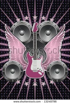 Stock Images similar to ID 17666341 - microphone guitar and wing...