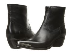 Frye Shane Tip Short Black Smooth Veg Calf - Zappos.com Free Shipping BOTH Ways