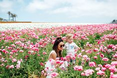 Ranunculus fields with my mini, having a little mommy and son day!