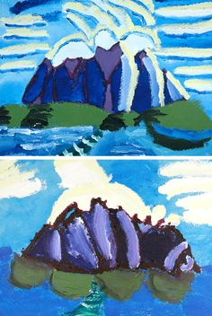 Lawren Harris Group Of Seven Art, Arts And Crafts Projects, Kid Crafts, Third Grade Art, Teaching Art, Teaching Ideas, Art For Kids, Kid Art, Family Night