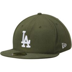 Men's Los Angeles Dodgers New Era Basic Olive 59FIFTY Fitted Hat