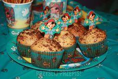 Cytrynowe muffinki z gorzką czekoladą