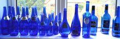 beautiful blue glass
