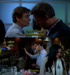 house m.d - quote - hugh laurie - there's a reason that everybody lies . Best Tv Shows, Favorite Tv Shows, Movies And Tv Shows, Dr House Quotes, It's Never Lupus, House And Wilson, Everybody Lies, Gregory House, Grey Anatomy Quotes