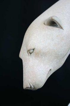 Bronze Wild Animals and Wild Life sculpture by sculptor Adam Binder titled: 'Sinking Feeling (White Polar Bear on Iceflow sculpture)' - Artwork View 3