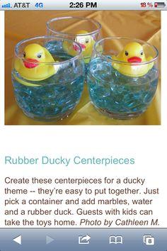 Rubber duck centerpieces