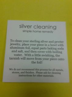 Home remedy silver cleaner