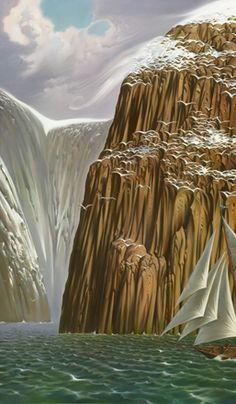 Snowbirds. Vladimir Kush. Surrealist Artist. Painting. Modern Contemporary Art. Surrealism.