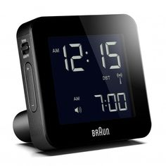 Bnc009 Rc Digital Global Radio Controlled Alarm Clock Black Digital Alarm Clock Radio