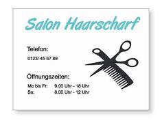 Firmenschild oder Öffnungszeiten Schild für den Friseursalon