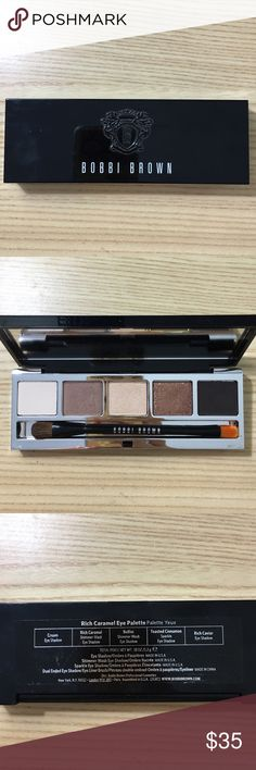 Bobbie Brown Rich Caramel Eye Palette Finger swatched, never used on the eyes, and the brush has never been used. I did clean the brush for good measure. No box. No trade. Bobbi Brown Makeup Eyeshadow