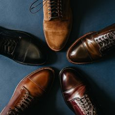 """743 Likes, 23 Comments - MH (@marvaments) on Instagram: """"The Alden Grant lasted captoe boot. Perfect proportions.  From the top (clockwise): - Alden x Brick…"""""""