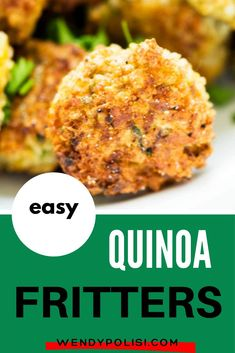 These Easy Quinoa Fritters are one of my favorite quinoa recipes for kids! The perfect way to get your kids eating quinoa without a fuss. Bonus:  Adults love them too.  This easy gluten free recipe deserves to become a habit. Quinoa Recipes For Kids, Gluten Free Recipes For Breakfast, Healthy Gluten Free Recipes, Great Recipes, Vegetarian Recipes, Dinner Recipes, Kids Meals, Easy Meals, Healthy Meats