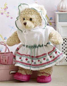 Kjole med kyse til Build-a-Bear og Baby Born - Hendes Verden