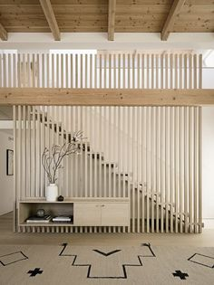 design of staircase wall / design of staircase & design of staircase wall & design of staircase armrest & staircase design & staircase wall design & steel staircase design & staircase wall design modern & outdoor staircase design Interior Staircase, Modern Staircase, Interior Architecture, Staircase Ideas, Wood Slat Wall, Wooden Stairs, Wooden Staircase Railing, Wooden Wall Decor, Wood Slats