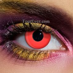 Red Colour Contact Lenses perfect for Halloween costumes. Red Contacts for  Devils  amp  Demon 04631f686712